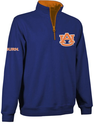 Auburn Tigers Quarter Zip Sweatshirt Navy AUB9A451