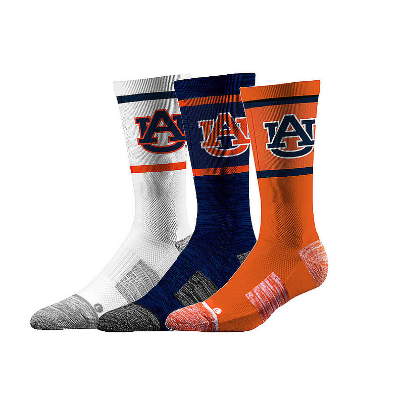 Auburn Tigers Socks 3-Pack