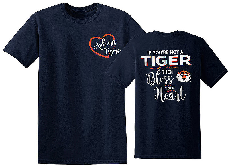 Auburn Tigers Tshirt Bless Your Heart AUBBlessYourHeart(REV)OL