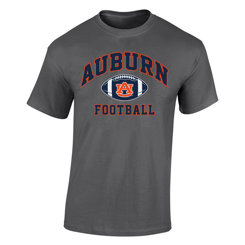 Auburn Tigers TShirt Heather Football Gray P0006198