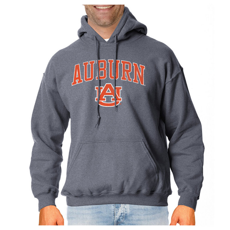Auburn Tigers Vintage Hooded Sweatshirt Charcoal Victory AUBV1412A_TV6136M_HBK