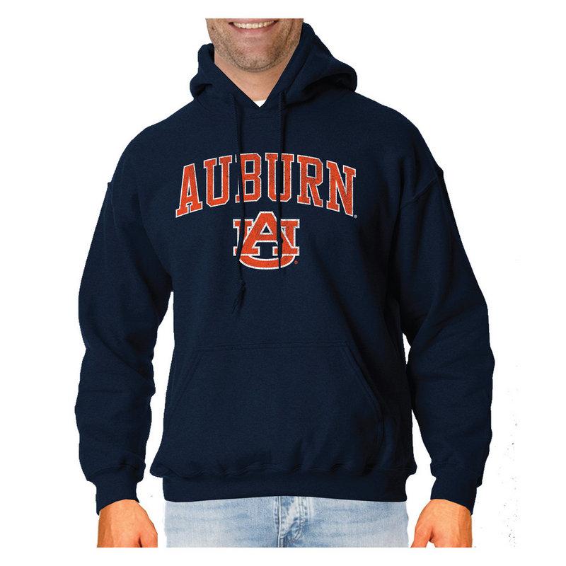 Auburn Tigers Vintage Hooded Sweatshirt Navy Victory AUBV1412A
