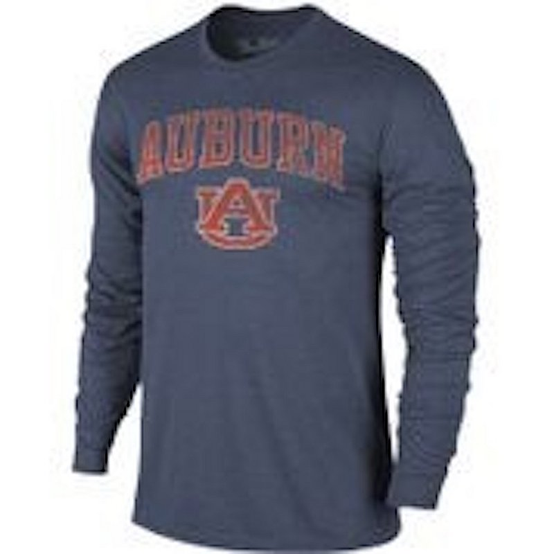 Auburn Tigers Vintage Long Sleeve Tshirt Navy Victory TV402_AUBV1412A_HNV