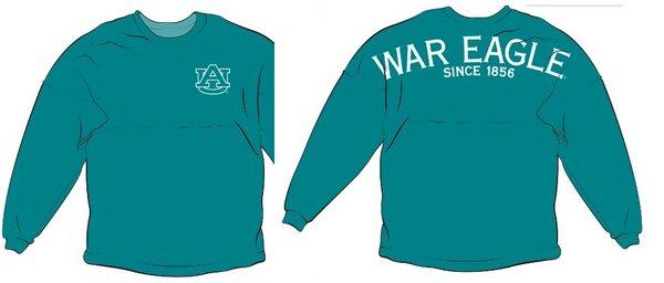 Auburn Tigers War Eagle Spirit Shirt Seafoam