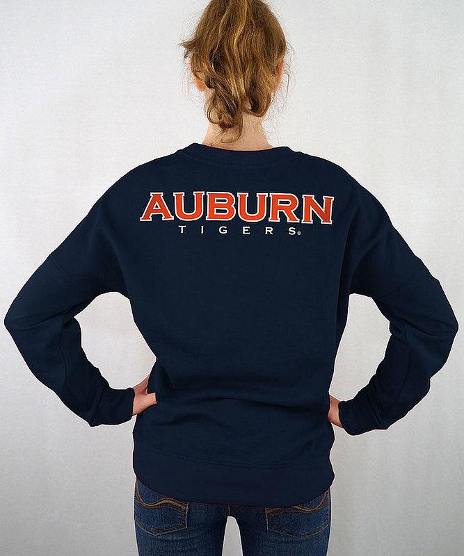 Auburn Tigers Women's Crewneck Sweatshirt Navy AUBFC661