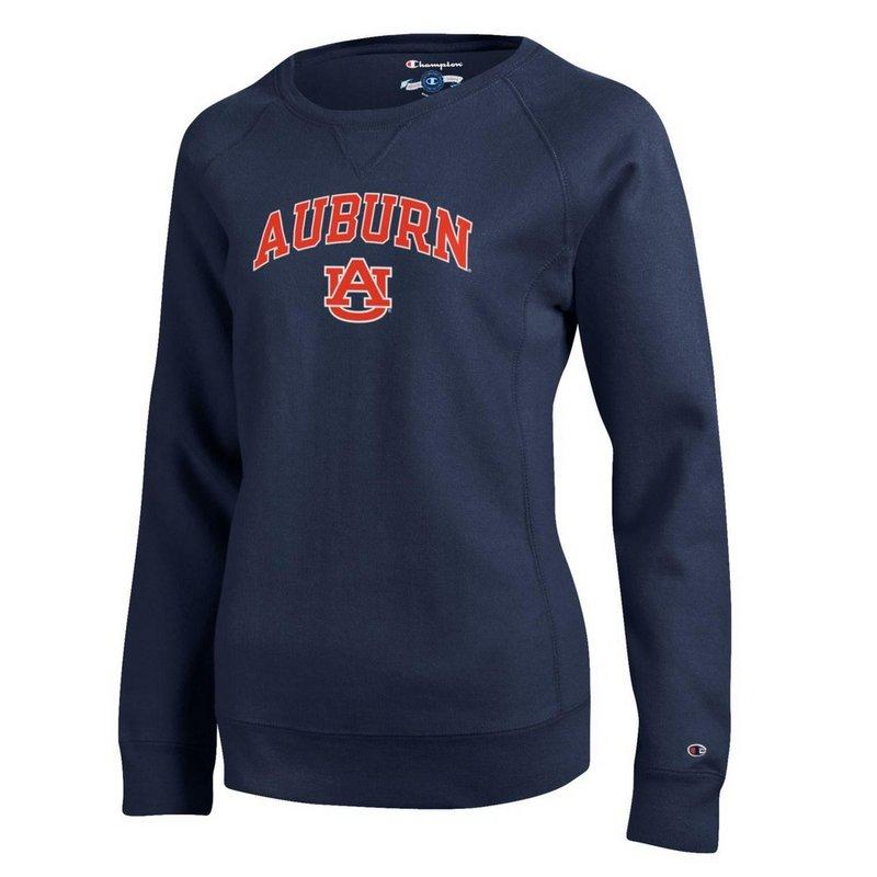 Auburn Tigers Womens Reverse Weave Crewneck Sweatshirt Navy APC02613182