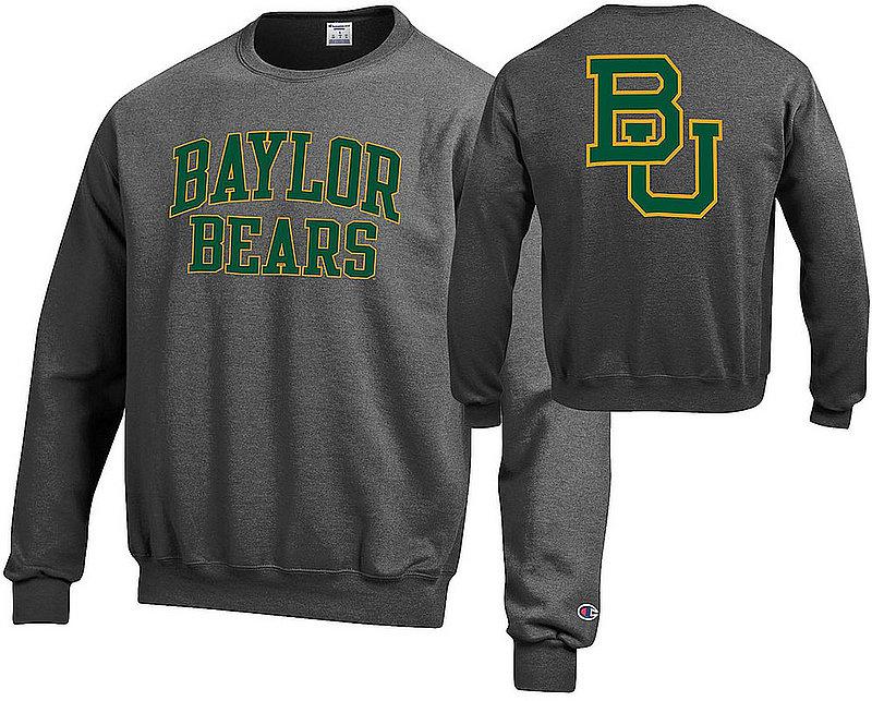 Baylor Bears Crewneck Sweatshirt Back Charcoal APC03010033/APC03010037