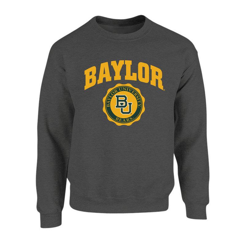 Baylor Bears Crewneck Sweatshirt Seal Charcoal P0007478