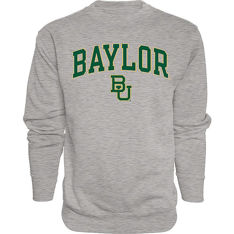 Baylor Bears Crewneck Sweatshirt Varsity Charcoal Arch Over APC02966713*