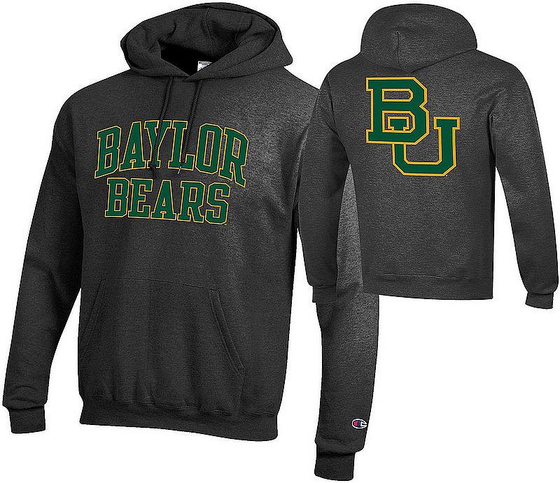 Baylor Bears Hooded Sweatshirt Back Charcoal APC03010033/APC03010037