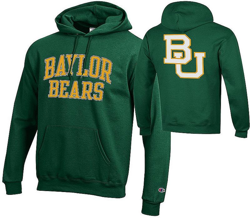 Baylor Bears Hooded Sweatshirt Back Green APC03010033/APC03010035