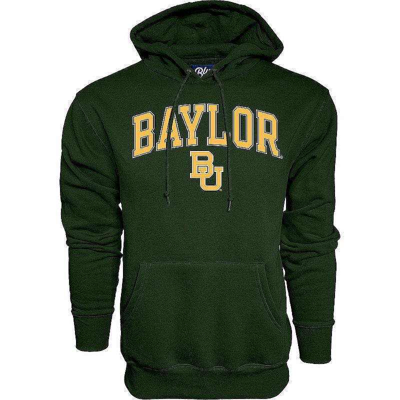 Baylor Bears Hooded Sweatshirt Varsity Green Arch Over APC02960939*
