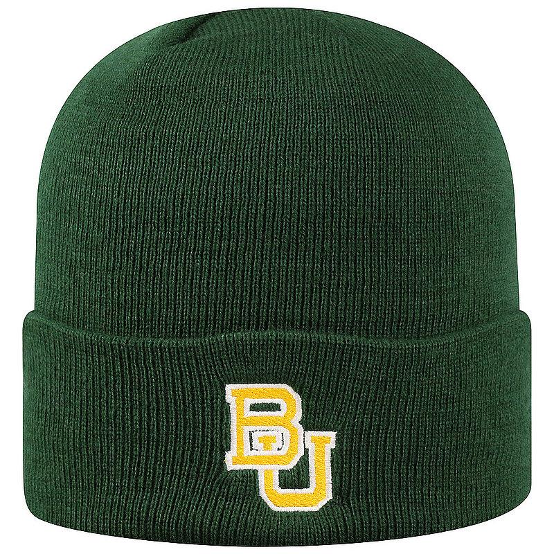 Baylor Bears Knit Winter Beanie Cuffed Hat Green TWCUF-BAYLR-CKT-TMC5