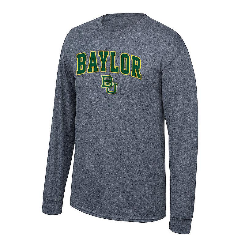 Baylor Bears Long Sleeve Tshirt Arch Charcoal P0007477