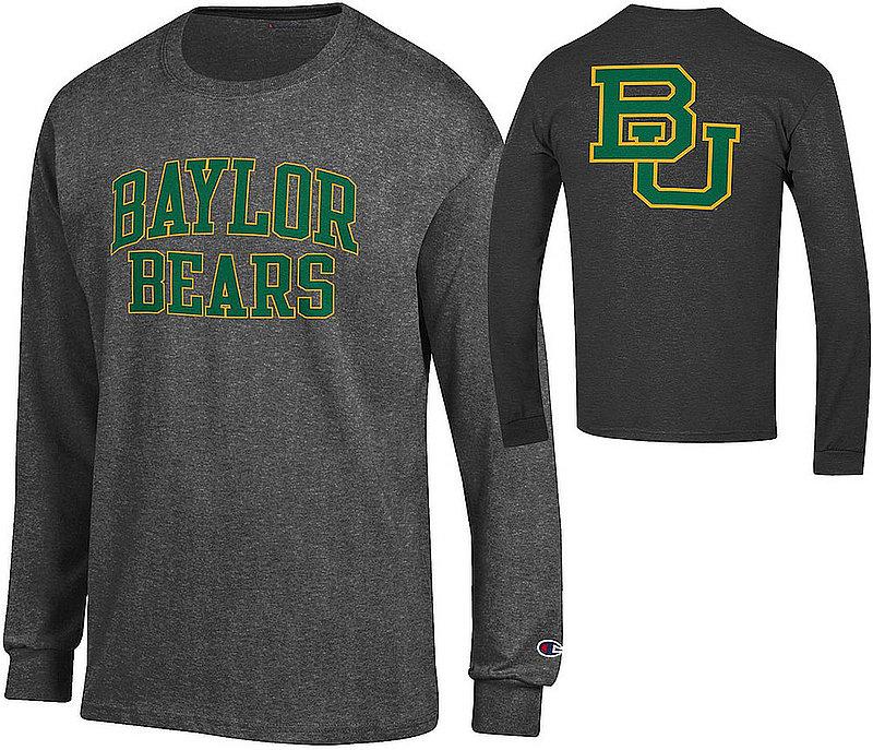 Baylor Bears Long Sleeve TShirt Back Charcoal APC03010033/APC03010037