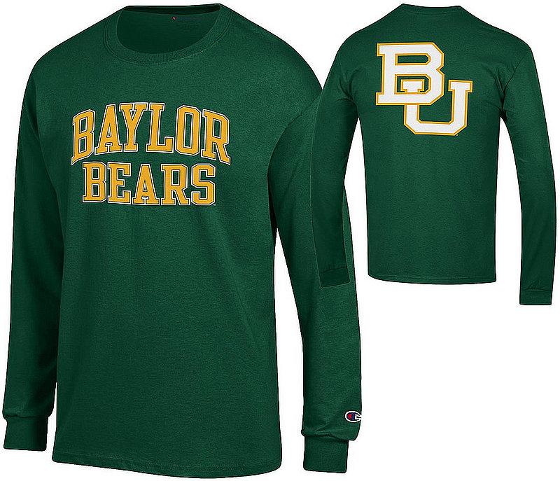Baylor Bears Long Sleeve TShirt Back Green APC03010033/APC03010035