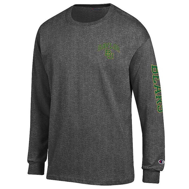 Baylor Bears Long Sleeve TShirt Letterman Charcoal APC02973682/APC02973685