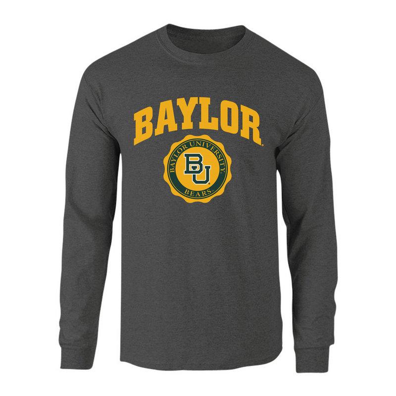 Baylor Bears Long Sleeve Tshirt Seal Charcoal P0007478