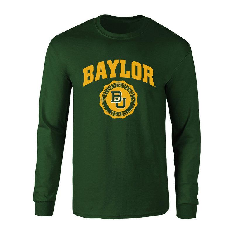 Baylor Bears Long Sleeve Tshirt Seal Green P0007478