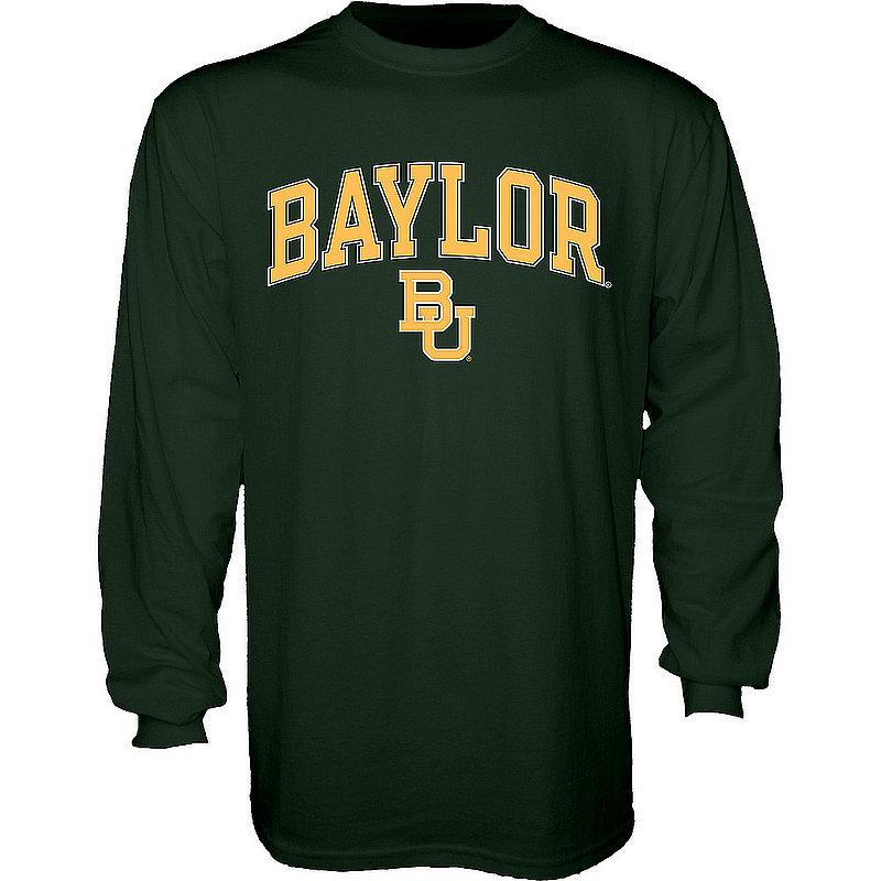 Baylor Bears Long Sleeve TShirt Varsity Green Arch Over APC02960939*