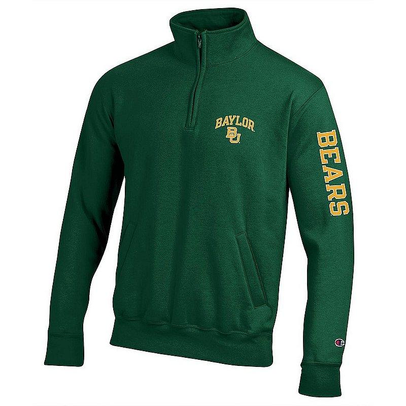 Baylor Bears Quarter Zip Sweatshirt Letterman Green APC02973682/APC02973685