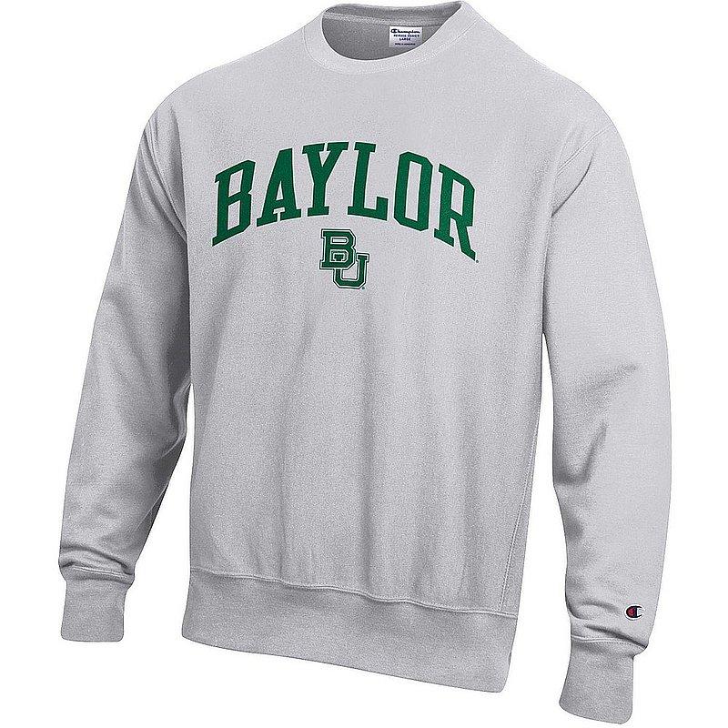 Baylor Bears Reverse Weave Crewneck Sweatshirt Gray APC03006032
