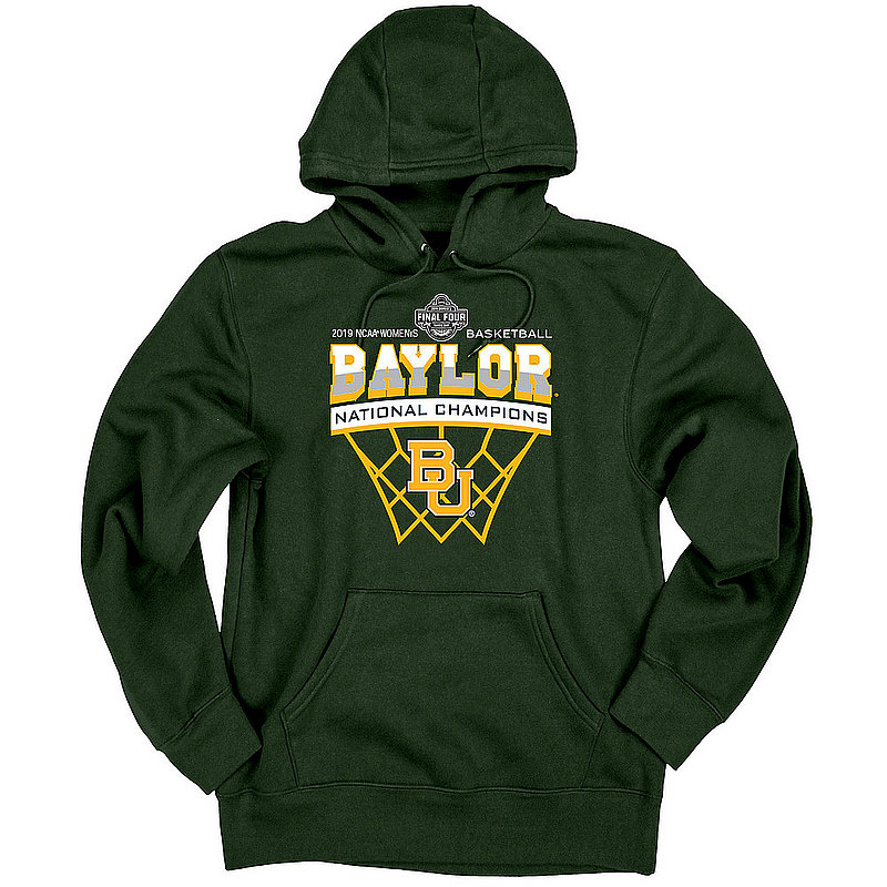 Baylor Bears Womens National Basketball Championship Hooded Sweatshirt 2019 Net Green Scratchy