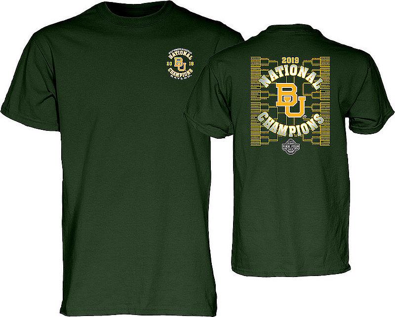 Baylor Bears Womens National Basketball Championship Tshirt 2019 Bracket Green BEST CASE