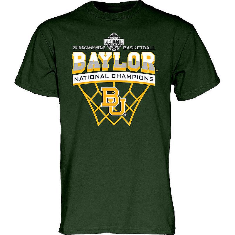 Baylor Bears Womens National Basketball Championship Tshirt 2019 Net Green Scratchy