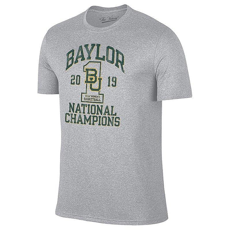 Baylor Bears Womens National Basketball Championship Tshirt 2019 Vintage Gray 9211A