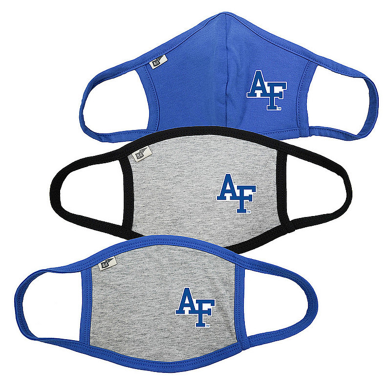 Air Force Falcons Face Covering 3 Pack Gray