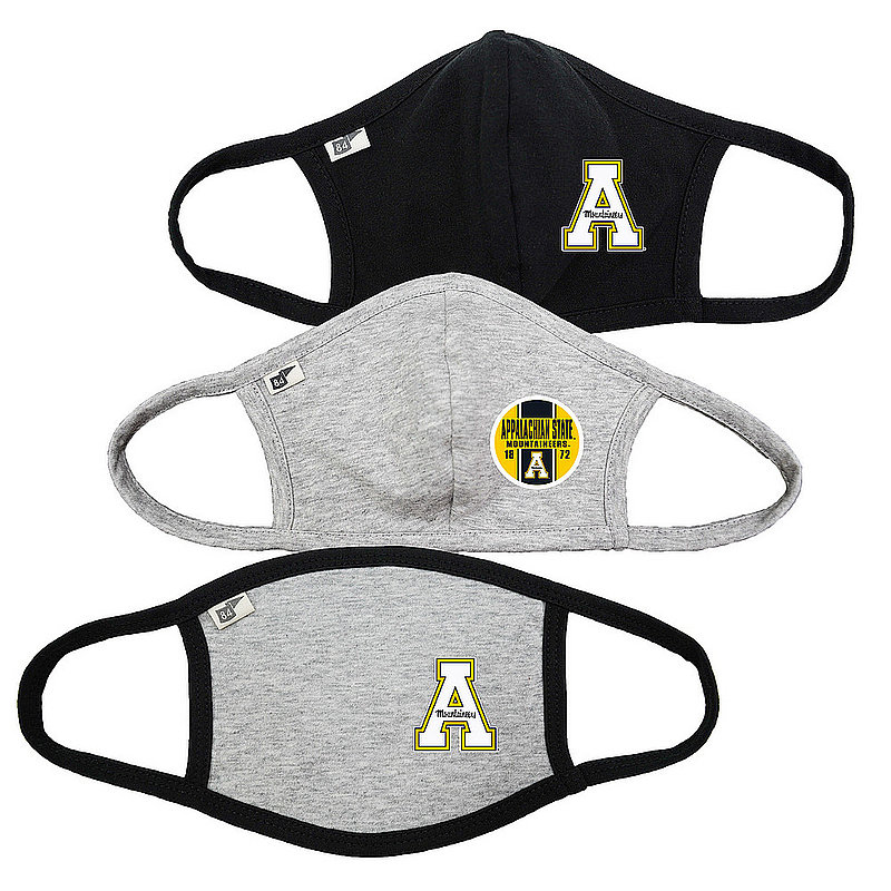 Blue 84 Appalachian State Mountaineers Face Covering 3 Pack 00000000BCP7C 00000000BCR2F 00000000BCP7B (Blue 84)