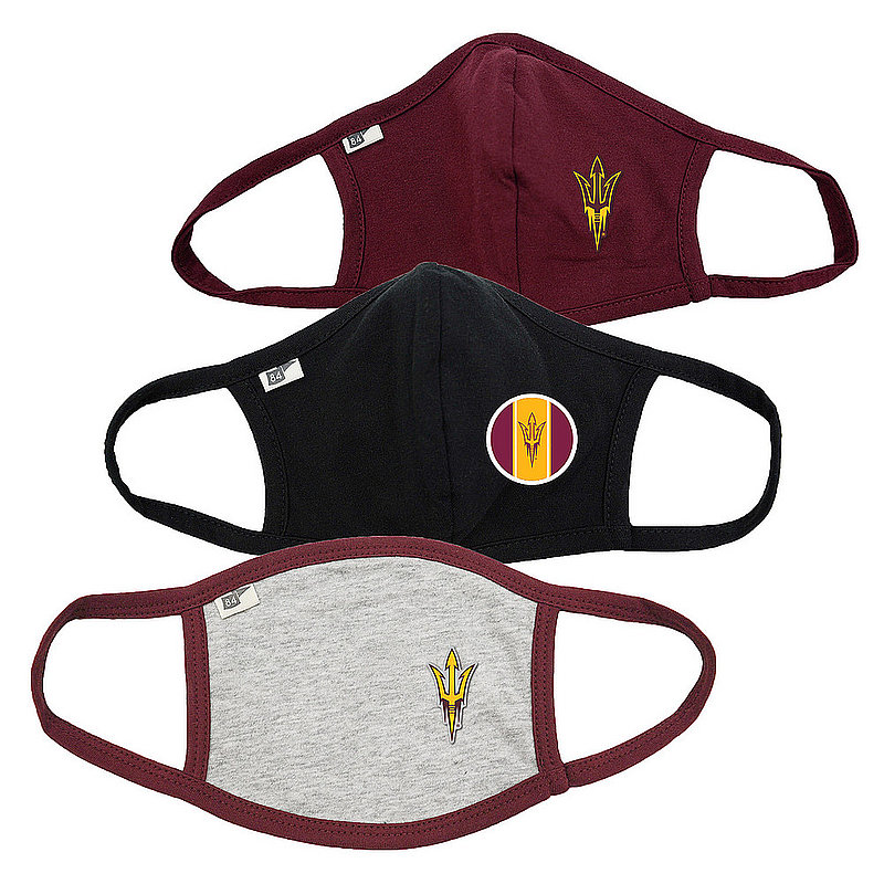 Blue 84 Arizona State Sun Devils Face Covering 3 Pack 00000000BC465 00000000BC38H 00000000BC46T (Blue 84)