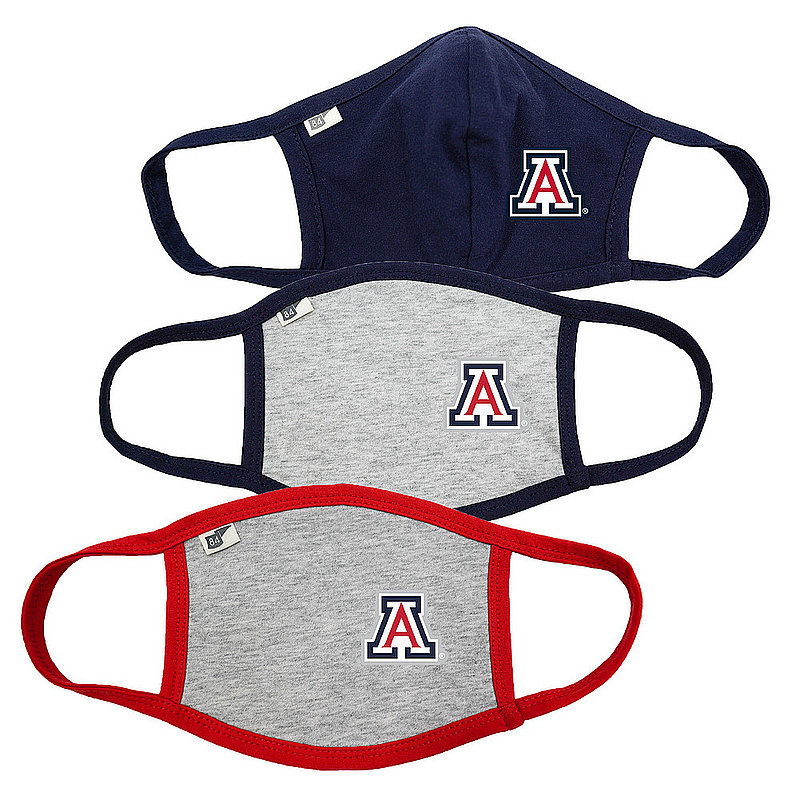 Blue 84 Arizona Wildcats Face Covering 3 Pack Gray 00000000BC488 00000000BCPTP� 00000000BCPTP� (Blue 84)