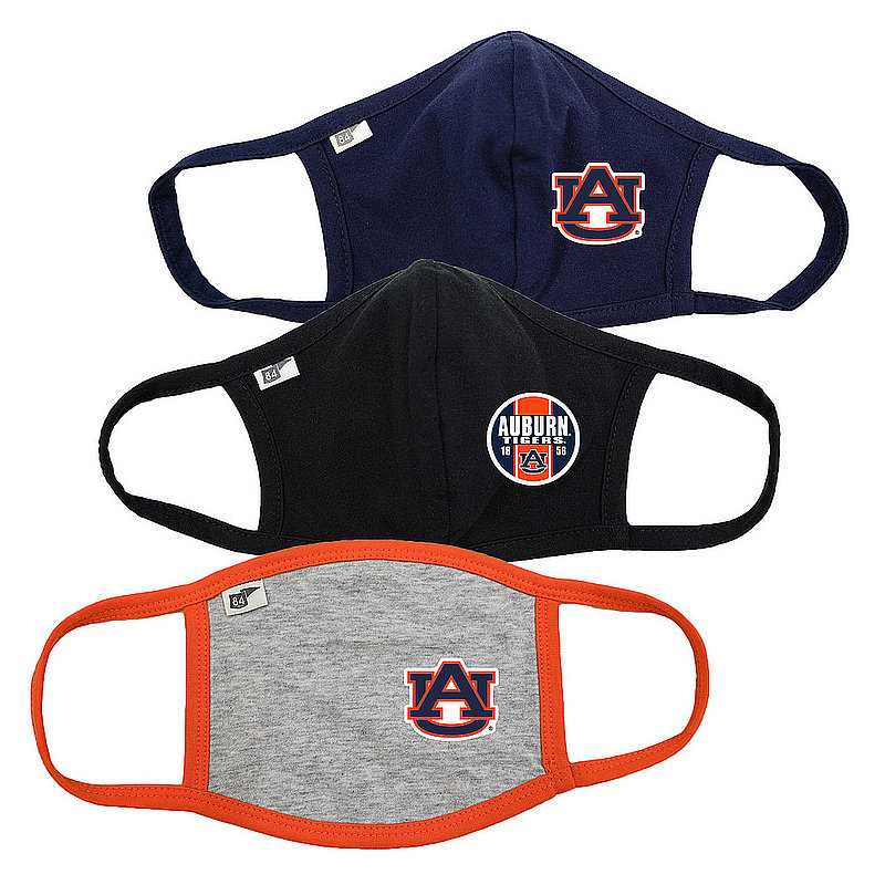 Blue 84 Auburn Tigers Face Covering 3 Pack 00000000BC46C 00000000BC3KD 00000000BC46M (Blue 84)