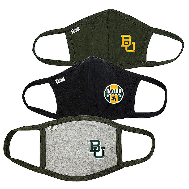 Blue 84 Baylor Bears Face Covering 3 Pack 00000000BCBRJ 00000000BCPZG 00000000BCPTN� (Blue 84)