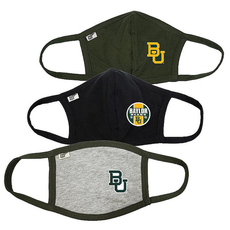 Blue 84 Baylor Bears Face Covering 3 Pack 00000000BCBRJ 00000000BCPZG 00000000BCPTN� (Blue 84)