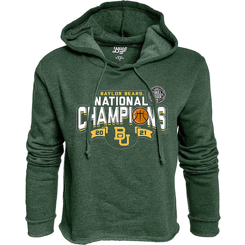 Blue 84 Baylor Bears National Basketball Championship Crop Hoodie 2021 00000000BX43T * (Blue 84)