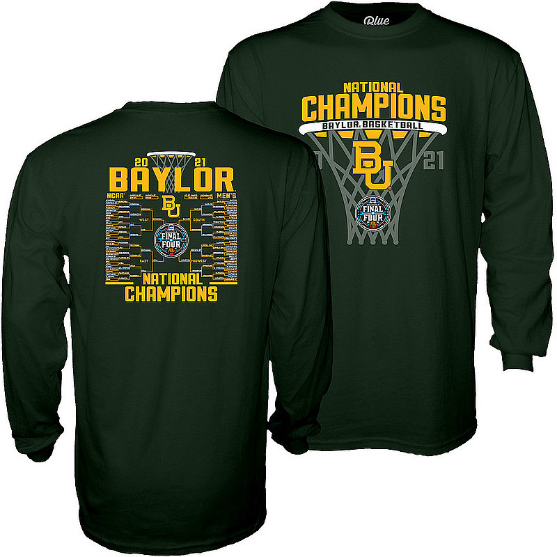 Blue 84 Baylor Bears National Basketball Championship Long Sleeve T-Shirt 2021 Bracket 00000000BXHTK (Blue 84)