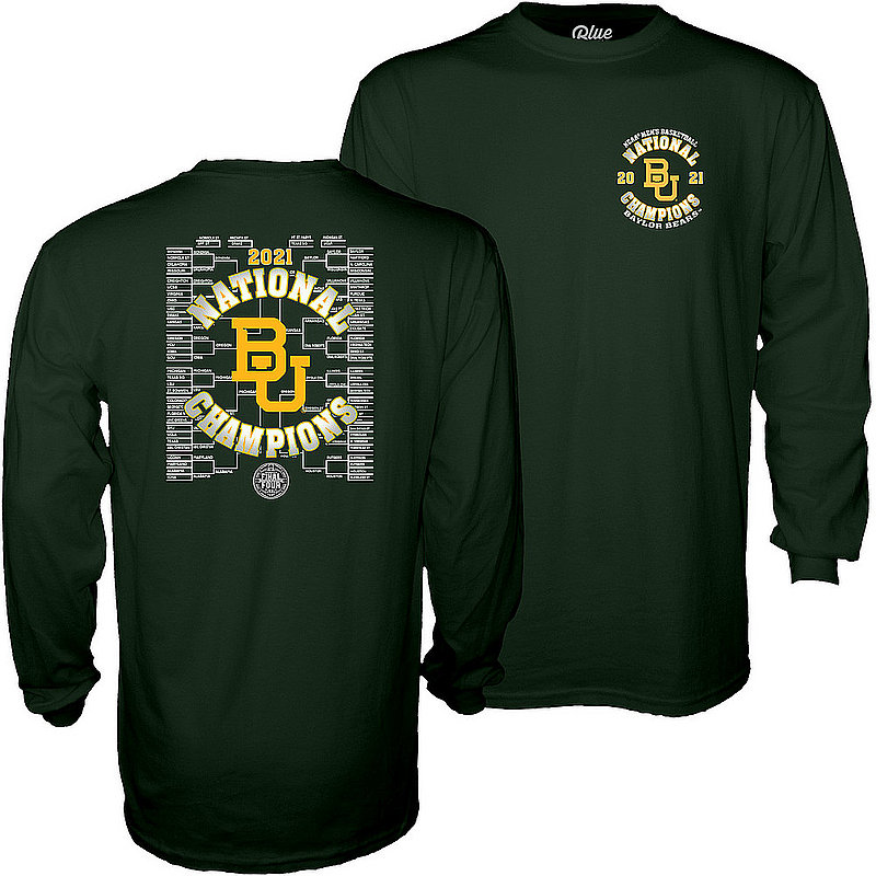Blue 84 Baylor Bears National Basketball Championship Long Sleeve T-Shirt 2021 Left Chest 00000000BX42D * (Blue 84)