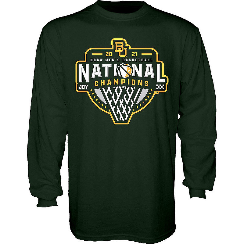 Blue 84 Baylor Bears National Basketball Championship Long Sleeve T-Shirt 2021 Official Logo 00000000BX4P3 * (Blue 84)