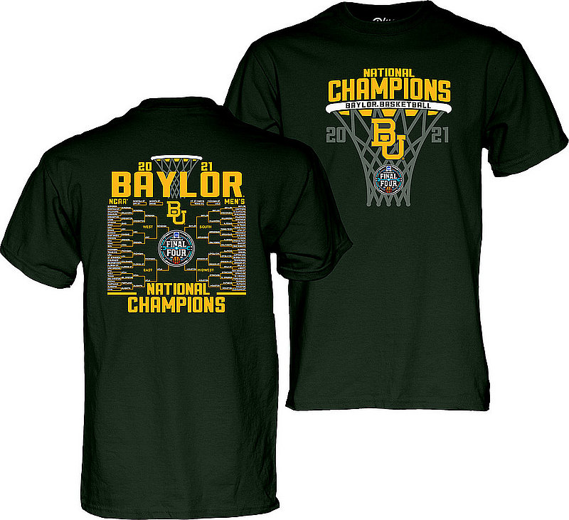 Blue 84 Baylor Bears National Basketball Championship T-Shirt 2021 Bracket 00000000BXHTK (Blue 84)