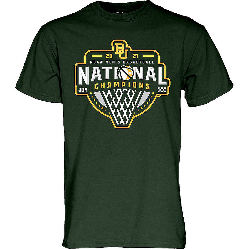 Blue 84 Baylor Bears National Basketball Championship T-Shirt 2021 Official Logo 00000000BX4P3 * (Blue 84)
