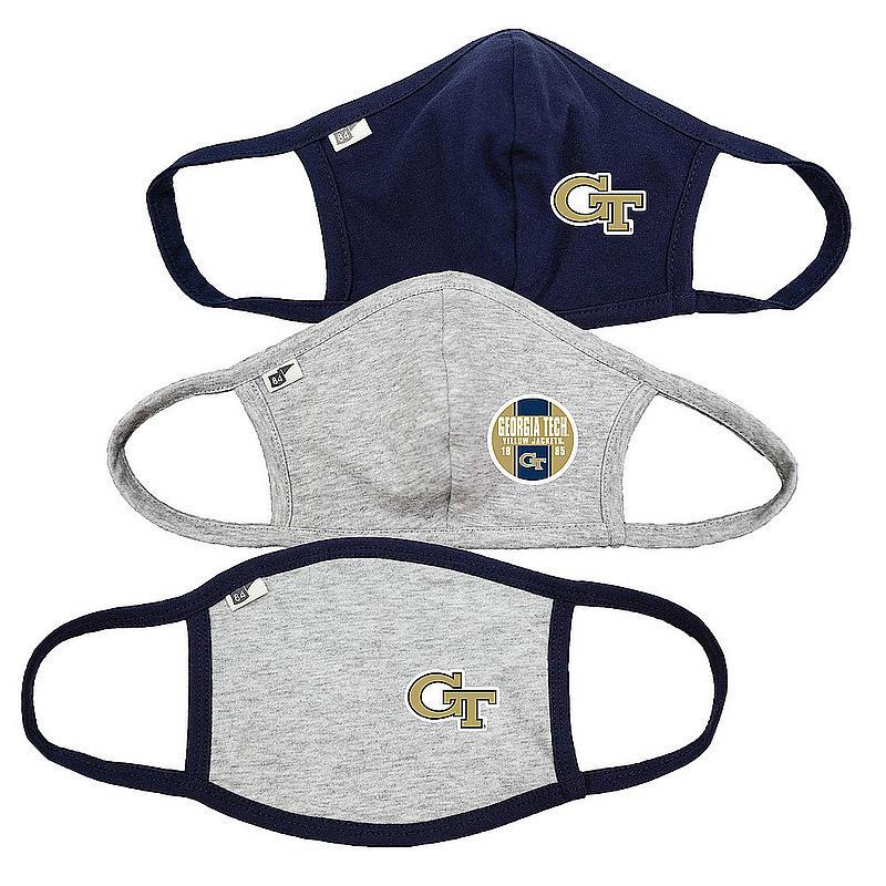 Blue 84 Georgia Tech Yellow Jackets Face Covering 3 Pack 00000000BC4SR 00000000BCPFB 00000000BC369 (Blue 84)