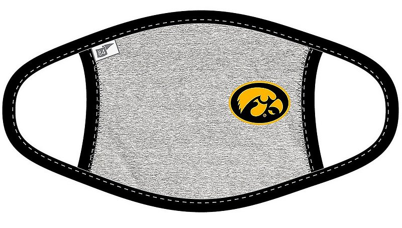 Blue 84 Iowa Hawkeyes Face Covering Gray BR7BM_MASKH_HEABLA (Blue 84)