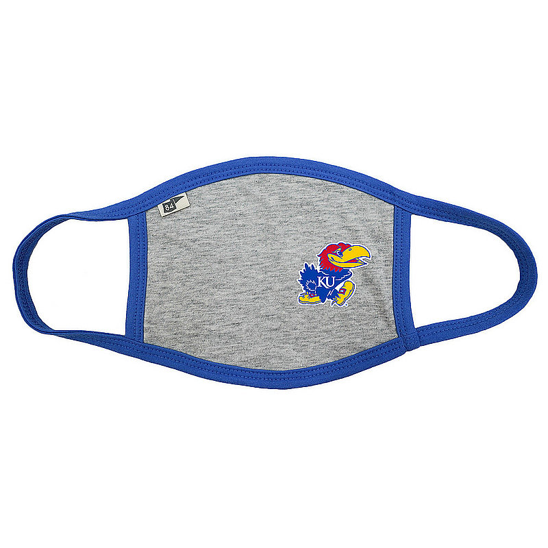 Blue 84 Kansas Jayhawks Face Covering Gray BRX3H_MASKH_HEAROY (Blue 84)