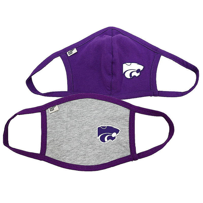 Blue 84 Kansas State Wildcats Face Covering 2 Pack 00000000BC4SN 00000000BC36X (Blue 84)