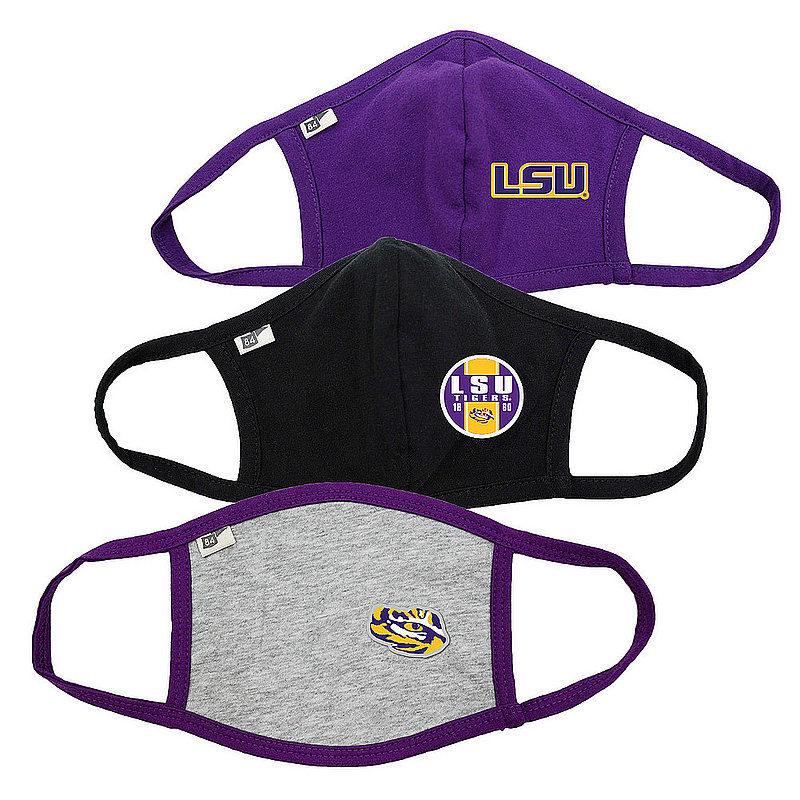Blue 84 LSU Tigers Face Covering 3 Pack 00000000BC4CN 00000000BC3TZ 00000000BC4T8 (Blue 84)