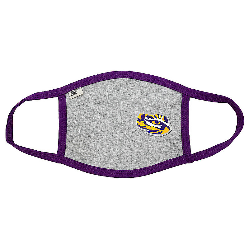 Blue 84 LSU Tigers Face Covering Gray BRXNM_MASKH_HEAPUR (Blue 84)