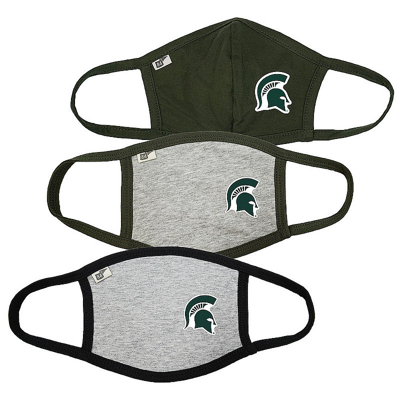 Blue 84 Michigan State Spartans Face Covering 3 Pack Gray 00000000BC4T9 00000000BC4XR 00000000BC4XR (Blue 84)